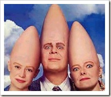 Beldar and Prymaat with Nan Schaefer coneheads