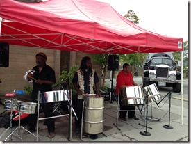 Nice Caribbean Band at a Rest Stop