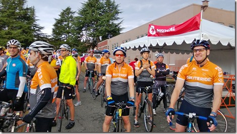 Me (in the middle) at the Start