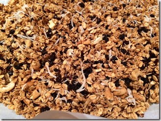 Granola After Coming Out of Oven
