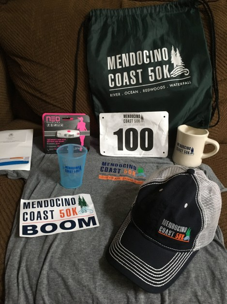Photo of the race swag
